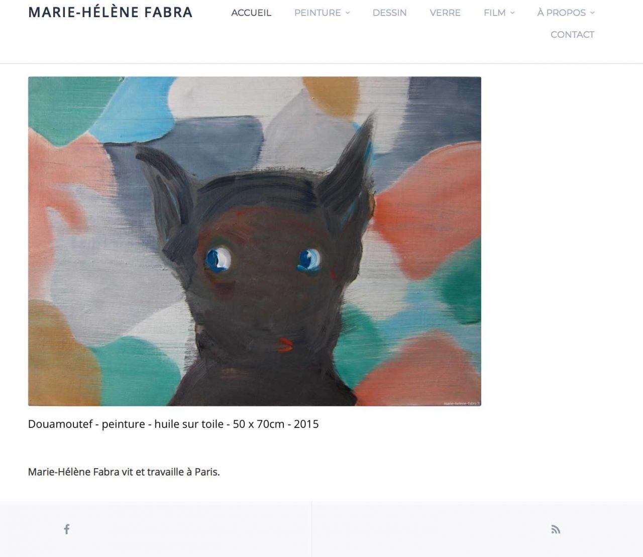 Site web marie-helene-fabra.fr